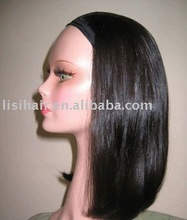 european hair 3/4 band fall wig