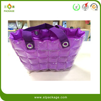 China supplier manufacture Promotional Shopping PVC Handle bag