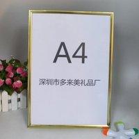 2016 hot sale golden A3A4 aluminum snap photo picture frame
