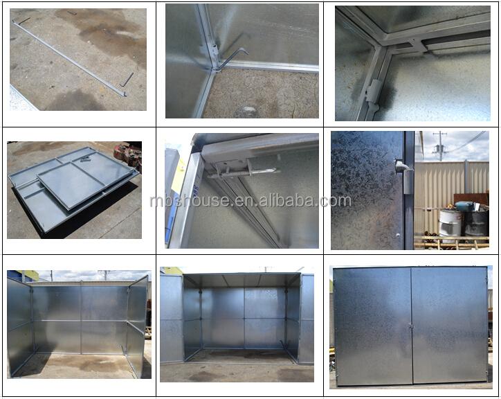 빠른 설치 스틸 금속 시멘트 창고 저장 방-헛간 및 스토리지 ...