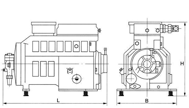 7 5hp semi-hermetic copeland compressor d3sc-75x