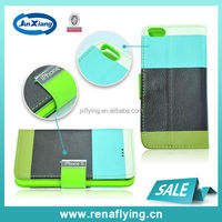 high quality TPU& leather flip case for iphone 5 /5s