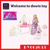 DIY Game toy miniature house accessories dollhouse bedroom set doll furniture dressing table chair playset