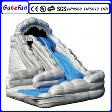 superior quality material commercial giant kids party rotate the octopus five lanes round inflatable slide