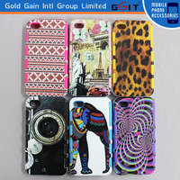 New Coming Two in One Stylished Design PC+TPU Phone Case For iPhone 4G Hybrid Case