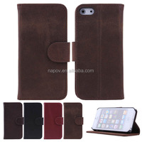 Factory Book Excellant Fold Flip Real Leather Cover Case for Apple iPhone 6 plus 5.5' inch