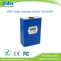 Good price 60A 150V high input voltage 12V/24V/48V battery system auto recognition MPPT solar charge controller