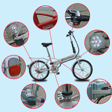folding electric bike electric bicycle inside li-poly battery and electric motor for bike