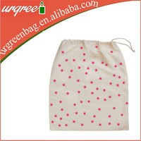 recycled organic cotton drawstring shoe bags with custom printing