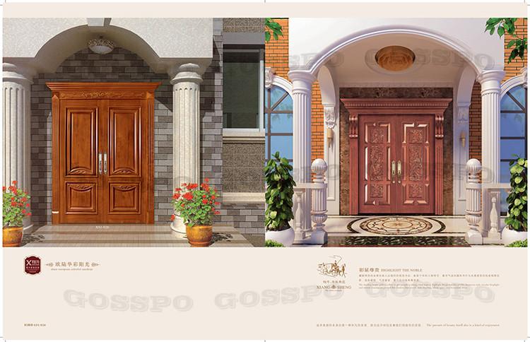 Teck bois principale conception de la porte d 39 entr e en - Porte villa en bois ...