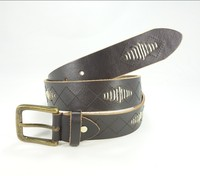 Fashion High Quality Genuine casual embroidered belts for men