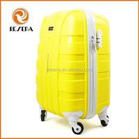Fashion PP plastic hard case cheap hand luggage suitcase sale