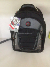 OEM Custom Made High Quality Waterproof Swiss Wenger Laptop Backpack Bags with Three Comparents