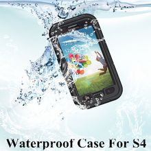 Free Shipping New arrival Waterproof Case For Samsung Galaxy S4 SIV I9500 cellphone underwater Protective Cover Shell