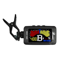 lcd display ukulele tuner online,russia tuner with red,yellow,blue backlight for musical instruments
