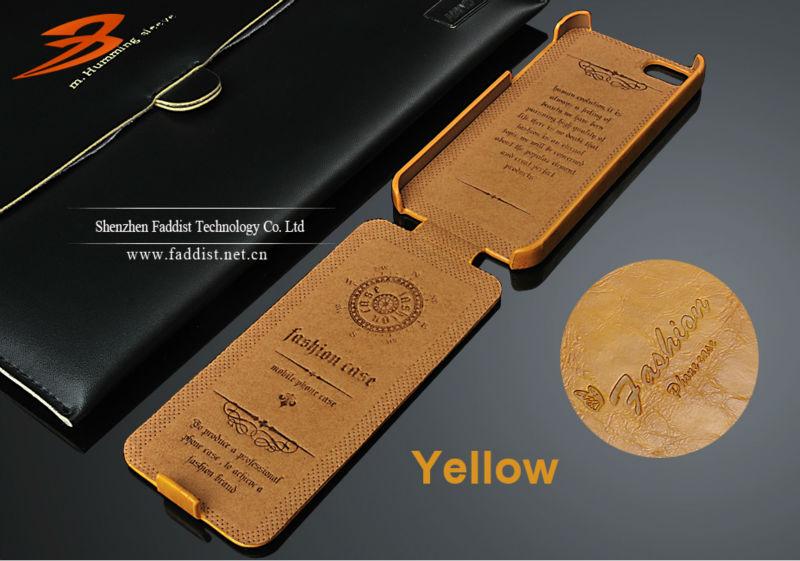 Retro PU leather case for iphone 5 5s flip case