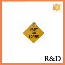 Factory Specializing In The Production Of Supply PP Car BABY ON BOARD Warning Sign For New Child / Newborn