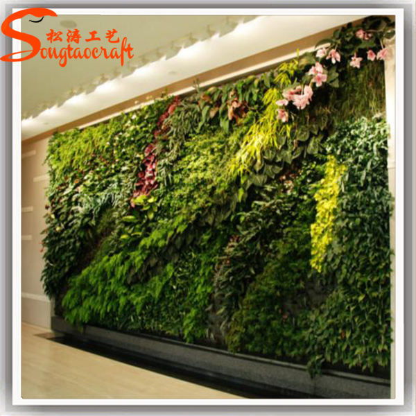 Chinese factory cheap artificial plastic grass green for Cheap vertical garden