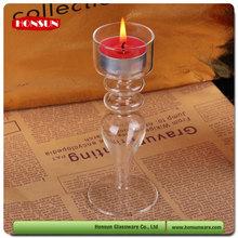 Pyrex heat resistant borosilicate glass pillar candle holders wholesale