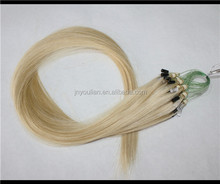 Wholesale cheap 8 to 30 inches blonde hair best micro ring micro loop hair extensions
