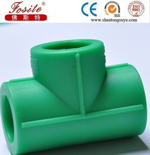 Imported material polypropylene PPR pipe fitting different colors PPR equal tee