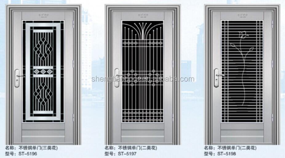 Puertas Para Baño En Acero Inoxidable:bajo de seguridad puertas de acero inoxidable para la casa-Puertas