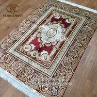 4x6 Red oriental persian silk area rugs handmade china silk carpet factory