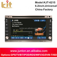 In-Dash new stereo remote control car dvd vcd cd mp3 mp4 player with Aux Input SD USB MP3 Radio function