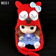 fashion red owl pattern free animations animals crocheted baby hats