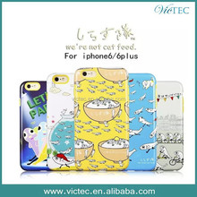 Accessories ,cheap silicon case for iphone 6 cartoon painted skin case for iphone 6 plus
