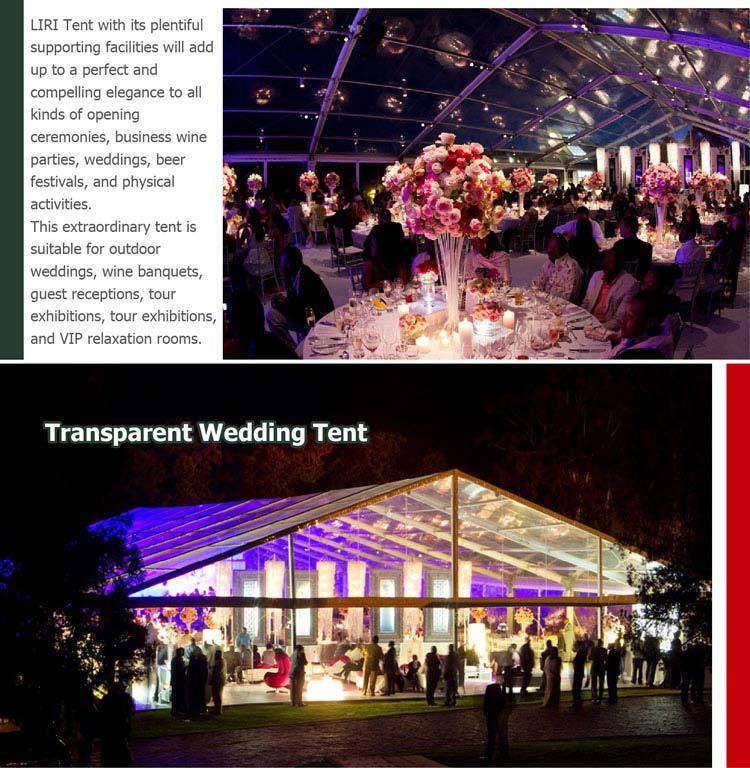 Tentes de mariage Outdoor chapiteau transparent Portable à vendre