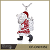 Merry Christmas Fashion Jewelry Santa Claus Crystal Necklace Wholesale