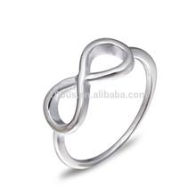 de la manera simple 925 clásico italiano de plata anillo de la joyería al por mayor