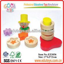 juguetes baratos de china de payaso de madera juguetes de apilador