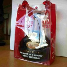 Plastic Bags Clear PVC Hnadle Bag Clear Plastic Handle Bags For Ice cooler Wine