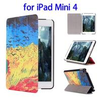 Cheap Wholesale Price with Sleep / Wake-up Function Leather for iPad Mini 4 Tablet Case