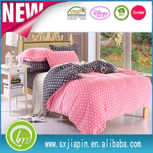 beautiful white polka dots printed colorful dubble sided aviliable super comfort fleece bed sheet sets