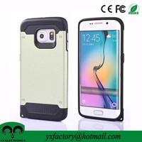 Shenzhen factory matt pc tpu armor dual protective mobile phone case wholesale for samsung galaxy s6 edge case