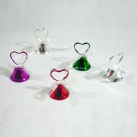 Heart Bell with bowknot Place Card Photo&Memo holder stand