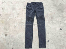 Ladies personality skinny Low-rice jeans apparel stock lots