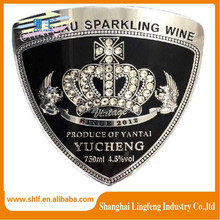 Customized logo high quality metal label maker for wine