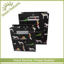 Professional manufacturer high quality christmas gift packaging paper bags without handle