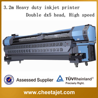 Outdoor advertisement large 10ft YF-3200D heavy duty eco solvent printer/tarpaulin printing machine with eps dx5/7 head