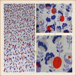 Printed 100% cotton garment fabric