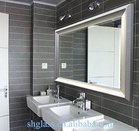 High quality aluminium mirror bathroom mirror 4- 6mm thickness mirror
