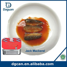 125/80g canned food factory, Canned Jack Mackerel in Tomato Sauce with HALAL, HACCP, ISO22000