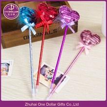 Novelty Novelty bling heart ballpoint pen promotion pen, gift pen