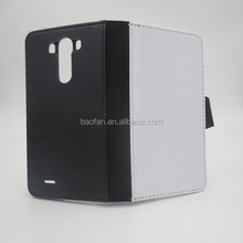 2D Sublimation mobile leather phone case For LG G3
