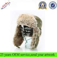 Russian Earflap Winter Faux Fur Ski Corduroy Custom Wholesale Trapper Hat