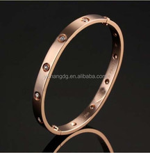 Custom Love Bracelet Jewelry Manufacturer, 316L Stainless Steel Gold Screw Bracelet Bangle for Wholesale